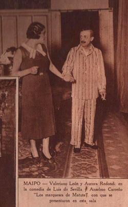 Valeriano León y Aurora Redondo